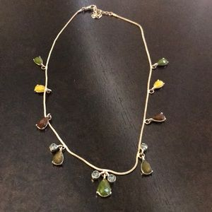 BOGO Green, Blue and Brown Necklace